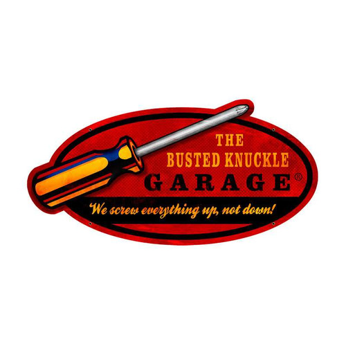 Retro Screwdriver Custom Metal Shape Sign  20 x 10 Inches