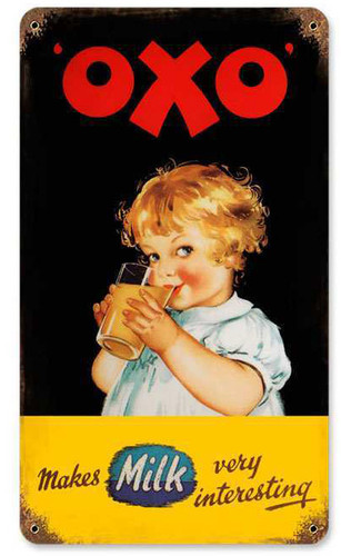 Retro OXO Vintage Metal Sign 8 x 14 Inches