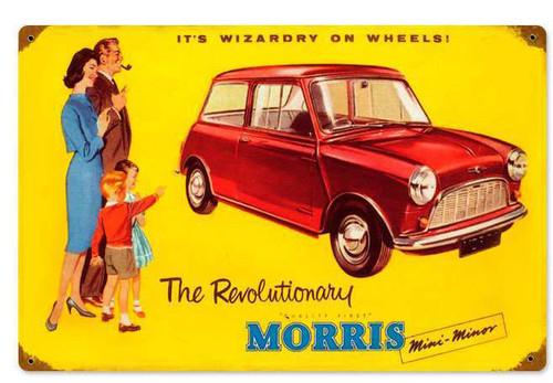 Morris Car Vintage Metal Sign 18 x 12 Inches