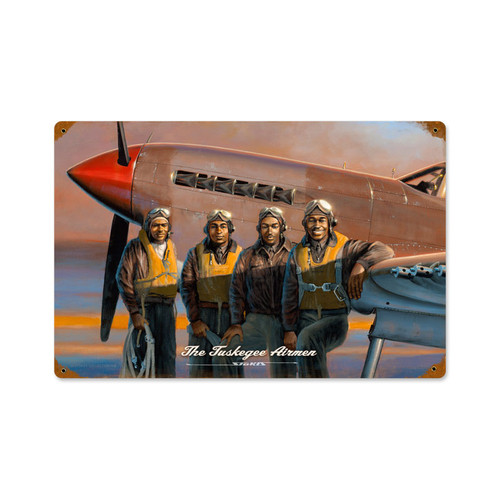 Retro Tuskegee Airmen Vintage Metal Sign 12 x 18 Inches