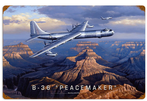 Retro B36 Peacemaker Vintage Metal Sign 24 x 16 Inches