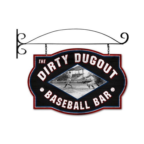 Retro Dirty Dugout Double Sided  with Wall Mount Sign 24 x 16 Inches
