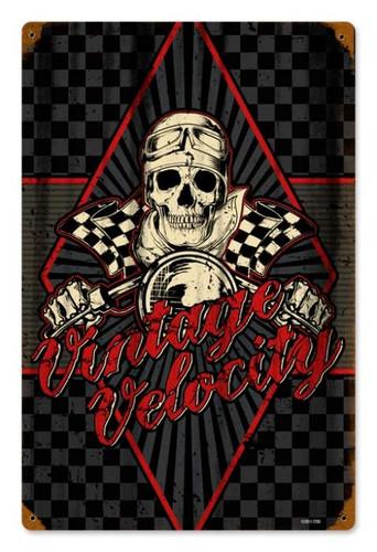 Vintage-Retro Vintage-Retro Velocity Metal-Tin Sign