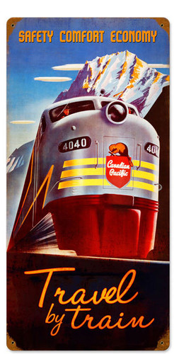 Retro Canadian Pacific  Metal Sign 12 x 24 Inches