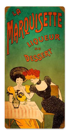 Retro Dessert Liqueur  Metal Sign 12 x 24 Inches