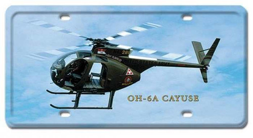 Vintage-Retro OH-6A Cayuse License Plate