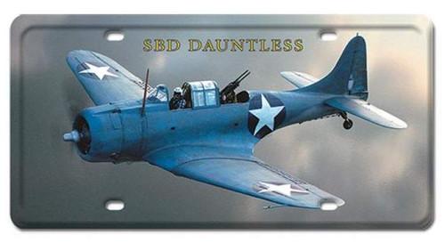 Vintage-Retro SBD Dauntless License Plate