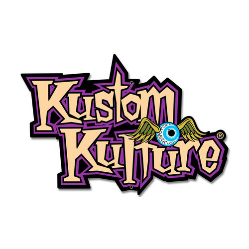 Kustom Kulture Custom Metal Shape Metal Sign 18 x 12 Inches
