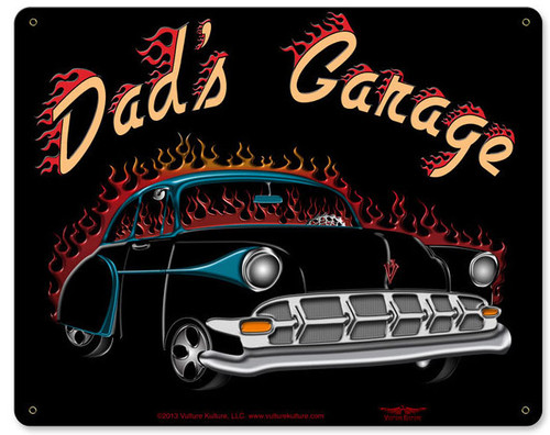 Dad's Garage Metal Sign 15 x 12 Inches