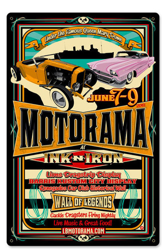 Motorama Vintage Metal Sign 12 x 18 Inches