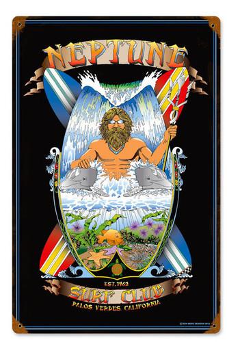 Neptune Palos Verdes Vintage Metal Sign 12 x 18 Inches