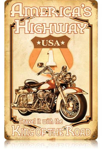 Vintage-Retro Americas Highway Metal-Tin Sign