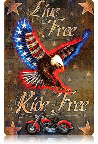 Vintage-Retro Live Free Die Free Metal-Tin Sign