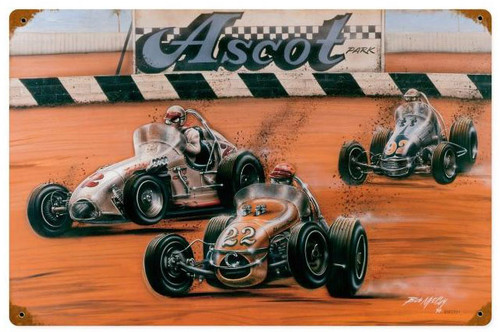 Shoot Out At Ascot  Metal Sign 18 x 12 Inches