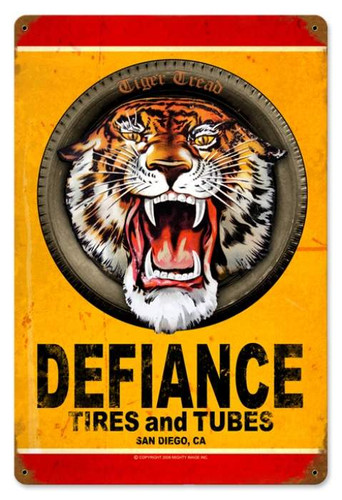 Vintage-Retro Defiance Tires Metal-Tin Sign