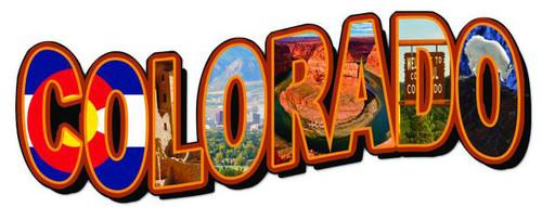 Colorado LandmarksCustom Metal Shape Sign 28 x 12 Inches