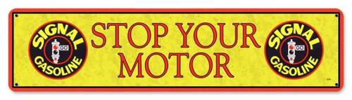 Vintage-Retro Signal Stop Motor Metal-Tin Sign