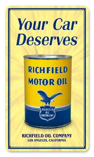 Vintage-Retro Richfield Oil Can Metal-Tin Sign