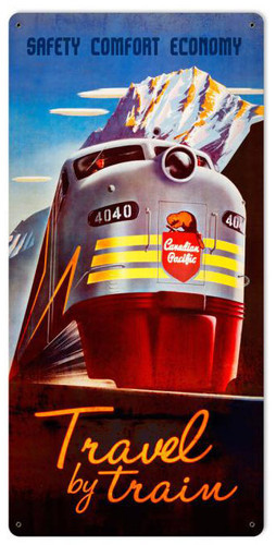 Canadian Pacific Train Metal Sign 18 x 36 Inches