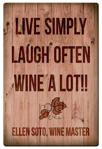 Wine A Lot Personalized Sign 12 x 15 Inches