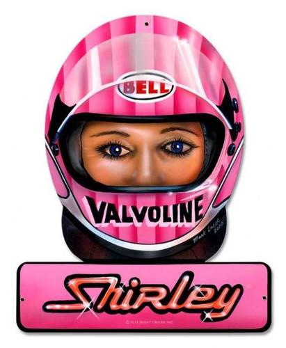 Vintage-Retro Muldowney Valvoline Helmet Metal-Tin Sign