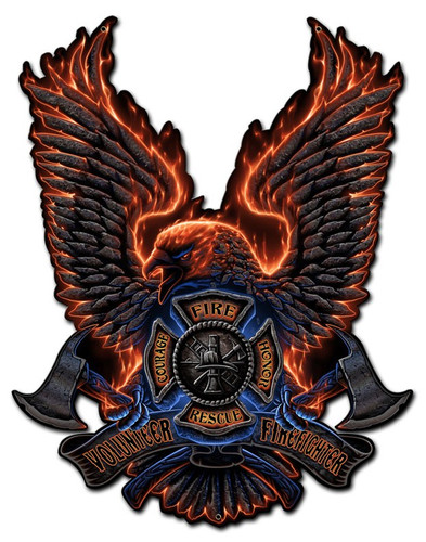 Fire Eagle Metal Sign 16 x 20 Inches