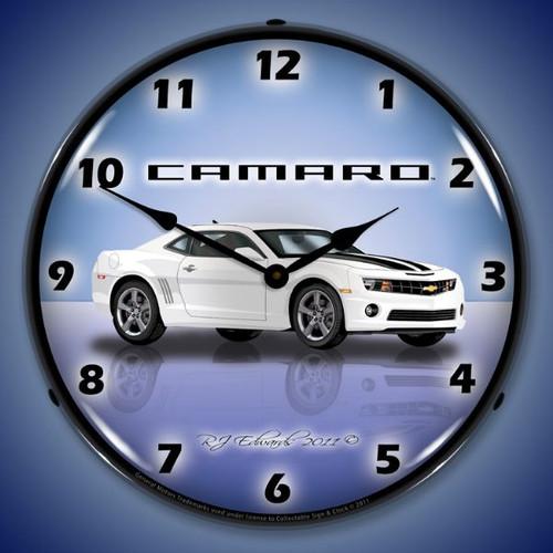 Camaro G5 Summit White Lighted Wall Clock 14 x 14 Inches