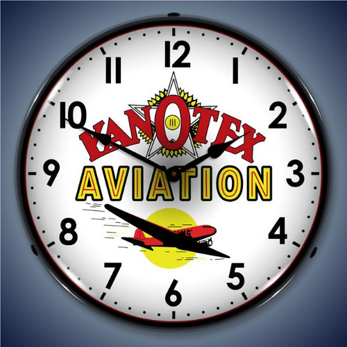 KanOtex Avaition Lighted Wall Clock 14 x 14 Inches