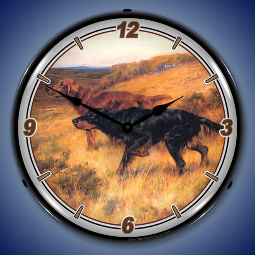 On the Point Lighted Wall Clock 14 x 14 Inches