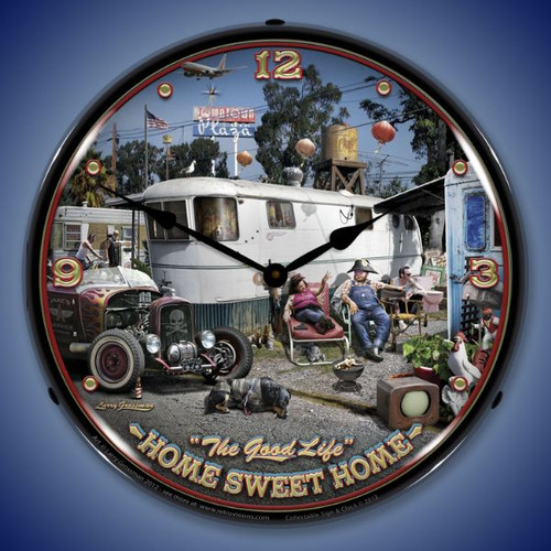 The Good Life Lighted Wall Clock 14 x 14 Inches
