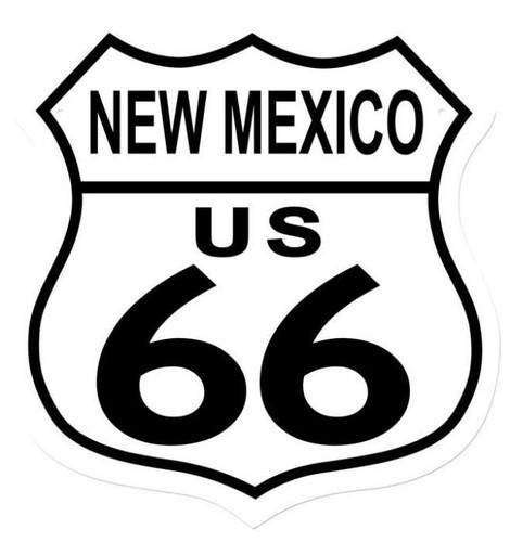 Vintage-Retro Route 66 New Mexico Shield Metal-Tin Sign
