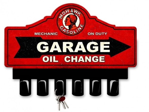 Mohawk Gasoline Metal Key Hanger 14 x 10 Inches