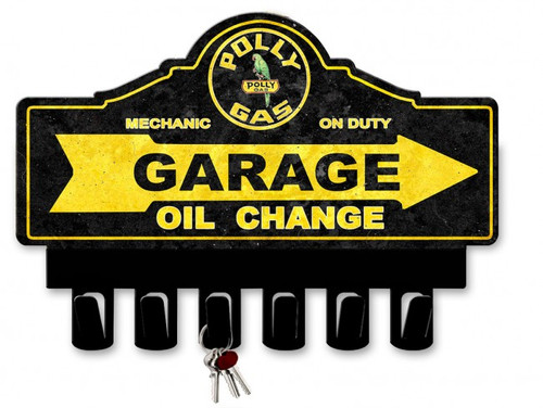 Polly Gasoline Metal Key Hanger 14 x 10 Inches
