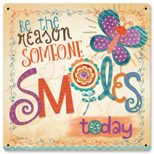 Be The Reason Metal Sign 12 x 12 Inches