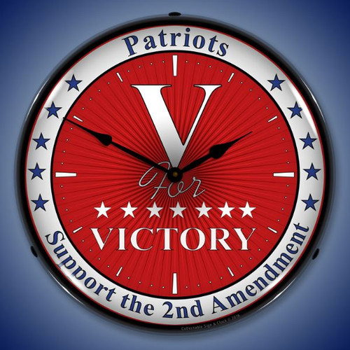 Victory Lighted Wall Clock 14 x 14 Inches