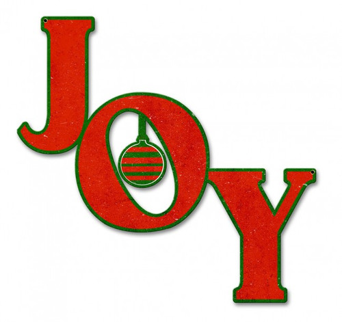 Joy Metal Sign 15 x 16 Inches