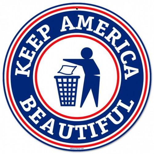 Vintage-Retro Keep America Round Metal-Tin Sign