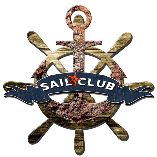 3-D Layered Sail Club Metal Sign 24 x 24 Inches