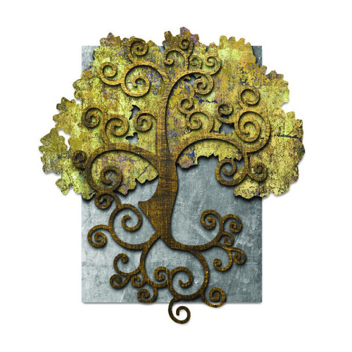 3-D Layered B2:B51Tree Of Life Metal Sign 31 x 24 Inches
