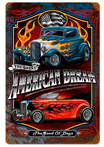 American Dream Metal Sign 12 x 18 Inches
