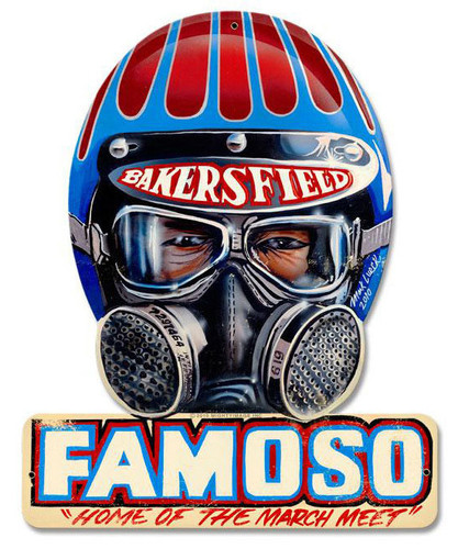 Famoso Metal Sign 12 x 15 Inches