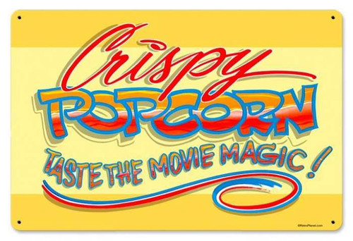 Vintage-Retro Popcorn Crispy Metal-Tin Sign