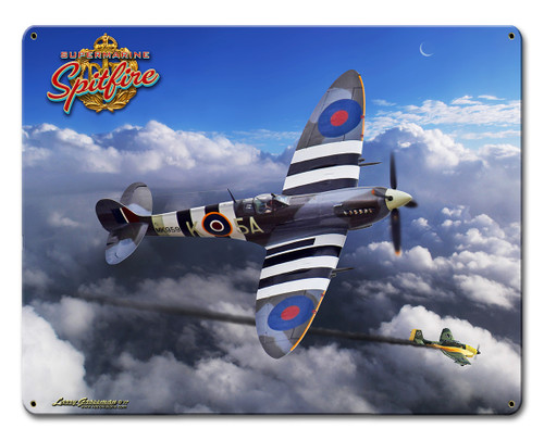 Spitfire Metal Sign 15 x 12 Inches