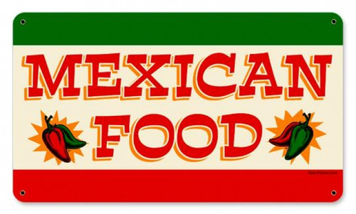 Vintage-Retro Mexican Food Metal-Tin Sign