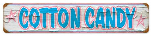 Vintage-Retro Cotton Candy Metal-Tin Sign