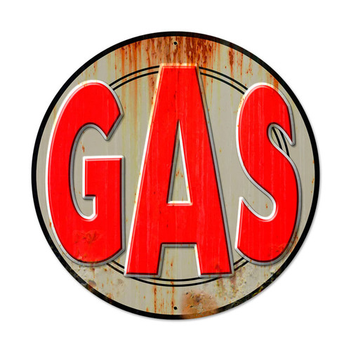 Gas Metal Sign 28 x 28 Inches