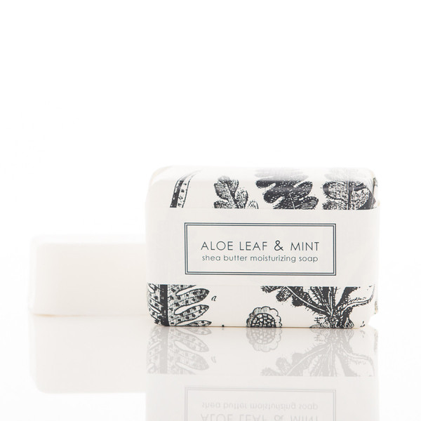 Aloe Leaf and Mint Shea Butter Soap