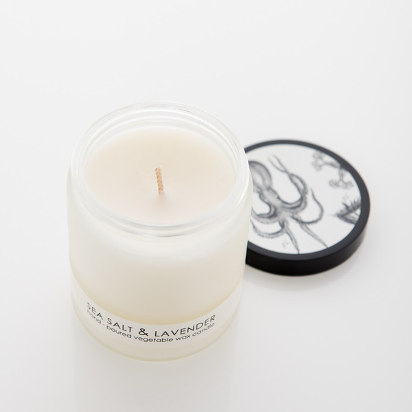Sea Salt and Lavender Candle
