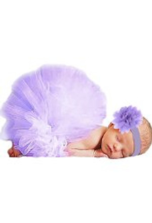 Purple Tu-tu Skirt and Headband