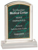 Green Marble Gold Edge Award with Clear Backdrop and Base 98